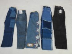 Selection of denim wear to include Fashion Lounge, Shengye, Pull & Bear, etc