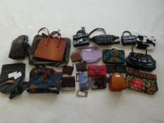 Selection of bags, wallets, purses, etc