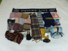 Selection of accessories to include scarfs, gloves, etc