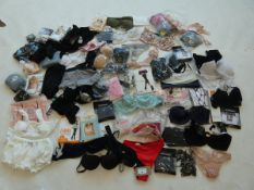 Selection of mixed ladies and men's underwear