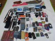 Selection of mixed accessories to include gloves, scarfs, umbrellas, etc