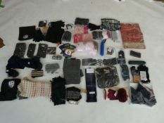 Selection of accessories to include gloves, scarfs, umbrellas, etc