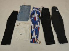 Selection of denim wear to include Missguided, Collusion X, Dickies, etc