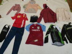 Selection of sportswear to include Puma, Nike, Adidas, etc