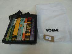 Yoshi bookworm marlowe shopper handbag in black with dust bag