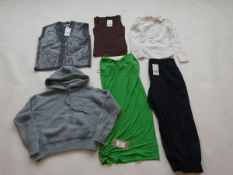 Selection of Zara clothing to include tops, dress, trousers, etc