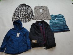 Selection of Maine clothing to include tops and jackets sizes 12, 16, 20 and XXL