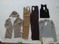 Selection of Zara clothing to include trousers, tops, and cardigan sizes S, M, XL and 8