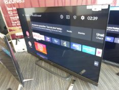 24 - TCL 55'' 4K TV Model: 55EC788, includes remote (R21) and box (B99), box has missing foam
