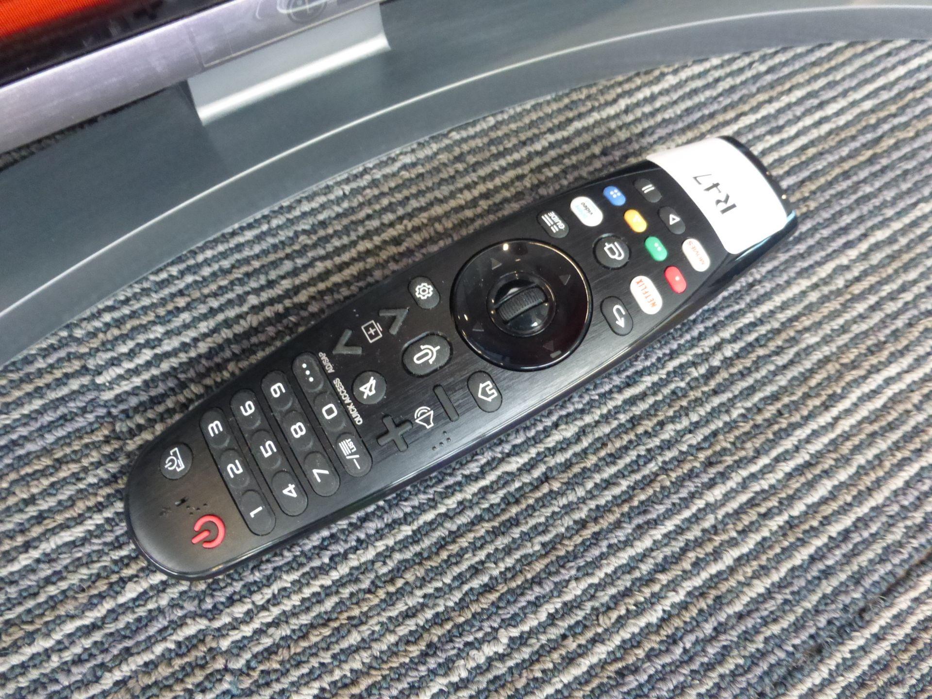 LG 65'' 4K TV Model: 65UN81006LB, includes remote (R47) and box (B63) Screen has no visible - Image 2 of 2