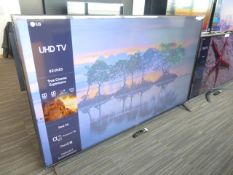 LG 82'' 4K TV Model: 82UN85006LA, includes remote (R25) and box (B48) Screen has no visible