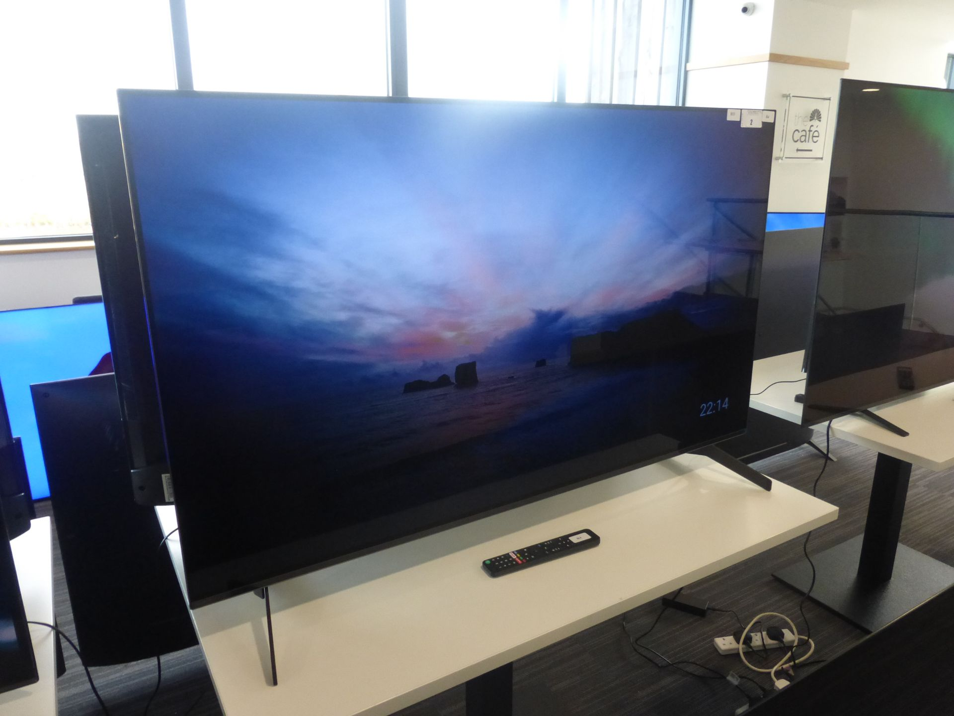 Sony OLED 4K TV Model: KD-55A8, includes remote (R4) and box (B33) Screen has no visible damage,