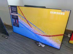 Samsung 65'' 4K TV Model: QE65Q60TAU, includes remote (R18 & R19), no stand, Screen has no visible