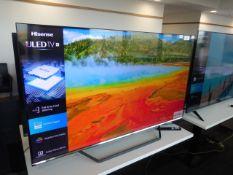 Hisense 55'' 4K TV Model: 55U7QFTUK, includes reomte (R31) and box (B53) Screen has no visible