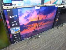 LG 65'' 4K TV Model: 65UN81006LB, includes remote (R47) and box (B63) Screen has no visible