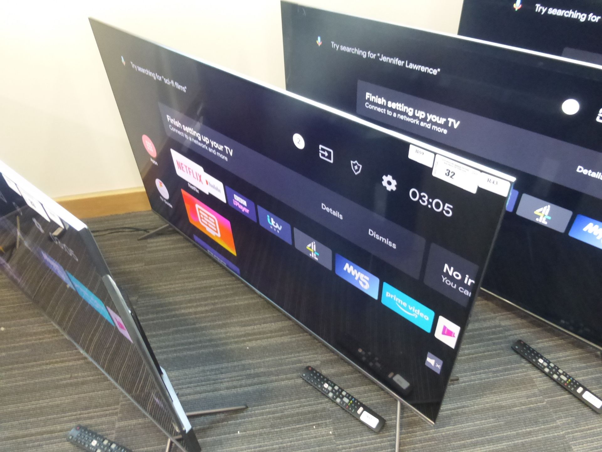 TCL 50'' 4K TV Model: 50C715K, includes remote (R43) and box (B59) Screen has no visible damage,