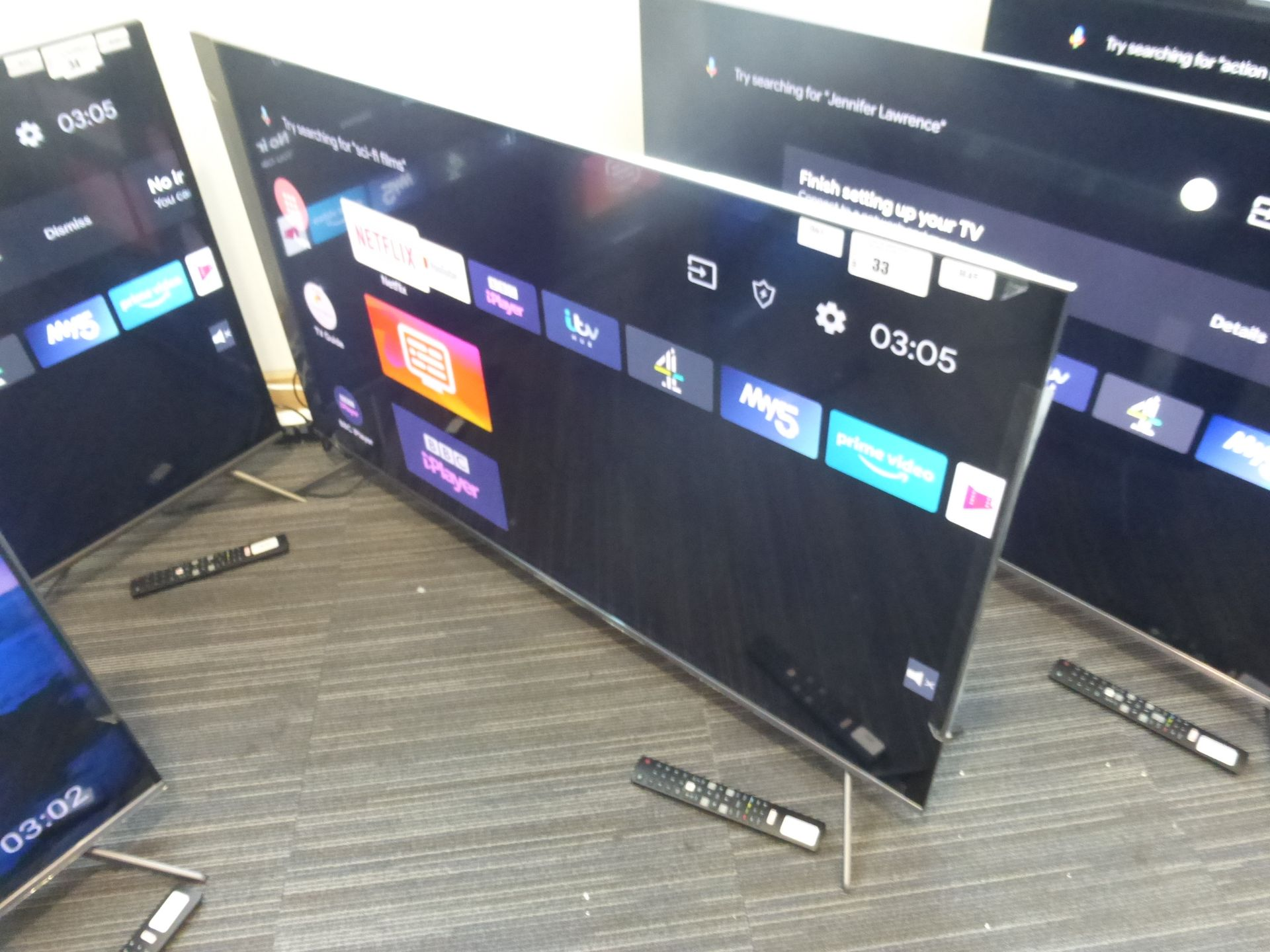TCL 50'' 4K TV Model: 50C715K, includes remote (R45) and box (B61) Screen has no visible damage,