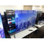 Hisense 58'' 4K TV Model: 58A7100FTUK, includes remote (R46) and box (B62) Screen has no visible