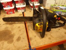 Maccat yellow petrol powered chainsaw