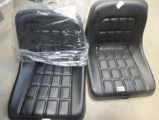 2 tractor/digger plant machinery seats