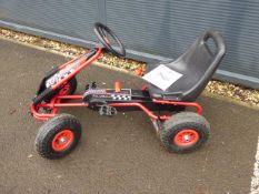 4 wheel pedal child's go kart