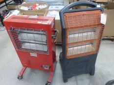 2 halogen style heaters