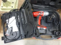 Extreme battery drill with 1 battery and charger and a snake scope