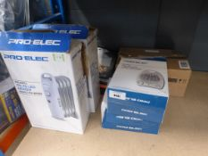 2 small oil filled radiators, 2 fan heaters, 1 Quartz heaters
