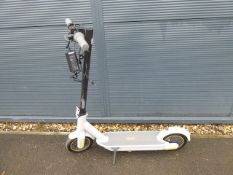 Ninebot grey 2 wheel electric scooter with charger