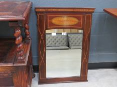 Edwardian mirror with inlaid frame