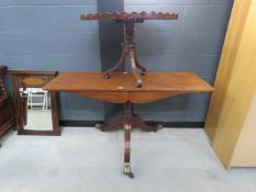 2 Victorian tripod tables