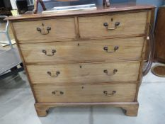 Victorian walnut chest of 2 over 3 drawers