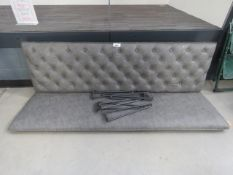 5009 Grey studded back bench seat, with legs (no fixings)
