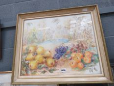 Watercolour of still life with fruits
