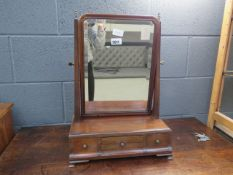 Victorian mahogany toilet mirror with drawers under