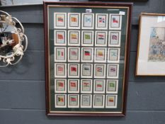 Cigarette card picture with national flags