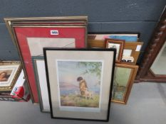 (26) Large quantity of Impressionist prints, botanical prints, London bus, girl by cottage door