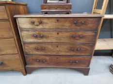 Victorian mahogany chest of 4 drawers
