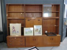 5259 G-plan modular wall unit in 5 sections