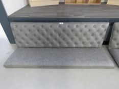 5007 Grey studded back bench sea, (no legs, no fixings)