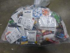 Bag containing various batteries by Energiser, Kodak, Panasonic inc. large variety of hearing aid