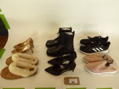 Bag of assorted mens and ladies shoes
