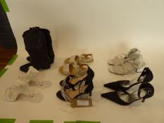 Bag of assorted ladies shoes (some used)