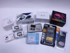 RGB strip light, HD Wifi alarm clock, aneroid sphygmomanometer, pen holder, 2x LED head torches,