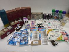 Waterproof, Dylon fabric dye, Drain unblocker, super glue, wet wipes, essential oils, Scented