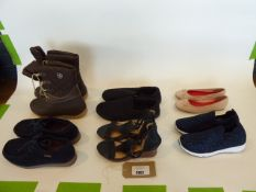 Bag of assorted mens and womens shoes