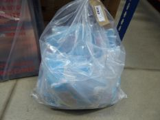 3296 - 3629 - Bag of personal protection face masks and pack of white disposable aprons