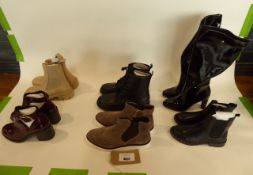 Bag of assorted boots and ankle boots