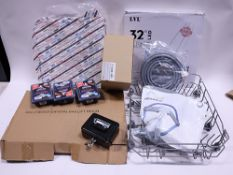 Oven shelf, gas bed lifter, dishwasher tray, washing machine pipes, Dyson component, oven cleaner,