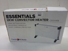 Essentials 2kw convector heater